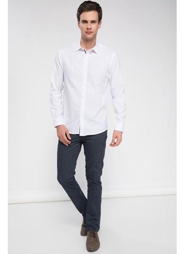 DeFacto Slim Fit Kolay Ütülenebilir Gömlek Beyaz